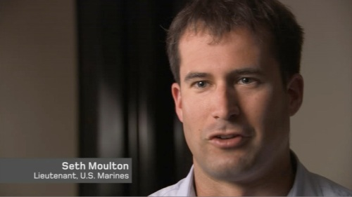 "Lt. Moulton gets the last word in the film: ""Are you telling me that's the best America can do? No. Don't tell me that, don't tell the Marines who fought for a month in Najaf that. Don't tell the Marines who are still fighting every day in Fallujah that's the best America can do. That makes me angry."""