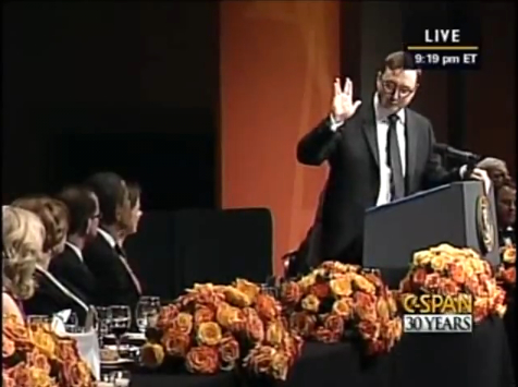 John Hodgman addressing President Obama in teh name of nerds everywhere. Hilarious, must-click viewing. Especially if you know hwt that hand gesture means.