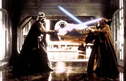Vader before the brewski; Guinness still has a head.