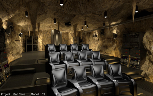 It seems like a lot of seats, but really it means Batman, Robin and Alfred each get a row to themselves.