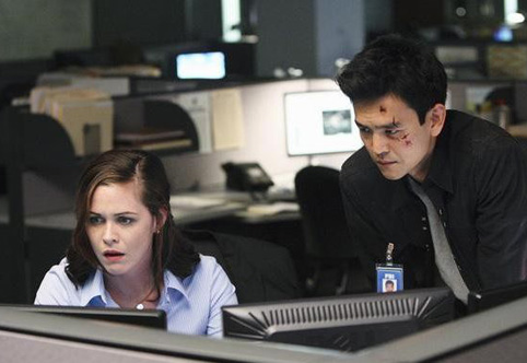 My two favorite characters on this show, played by John Cho and Christine Woods. They're fun to watch, with plenty roiling under their surfaces.