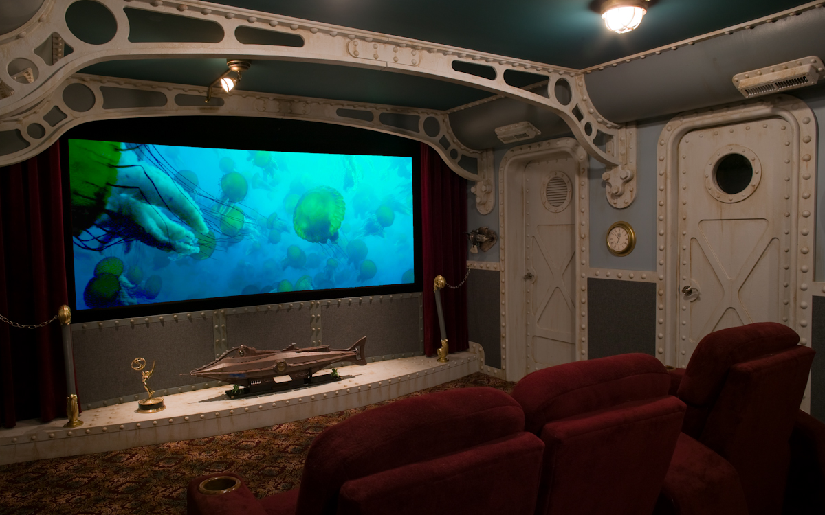 Sound the claxon another nautilus movie room surfaces - Home theater design dallas inspired ...